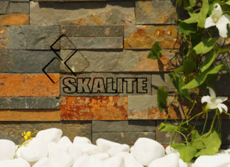 Modna aranżacja ścian z kamienia naturalnego w i na zewnątrz domu