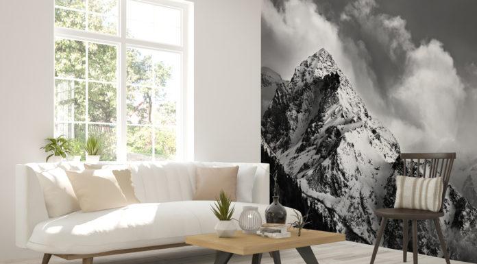 fototapeta góra cz-b salon