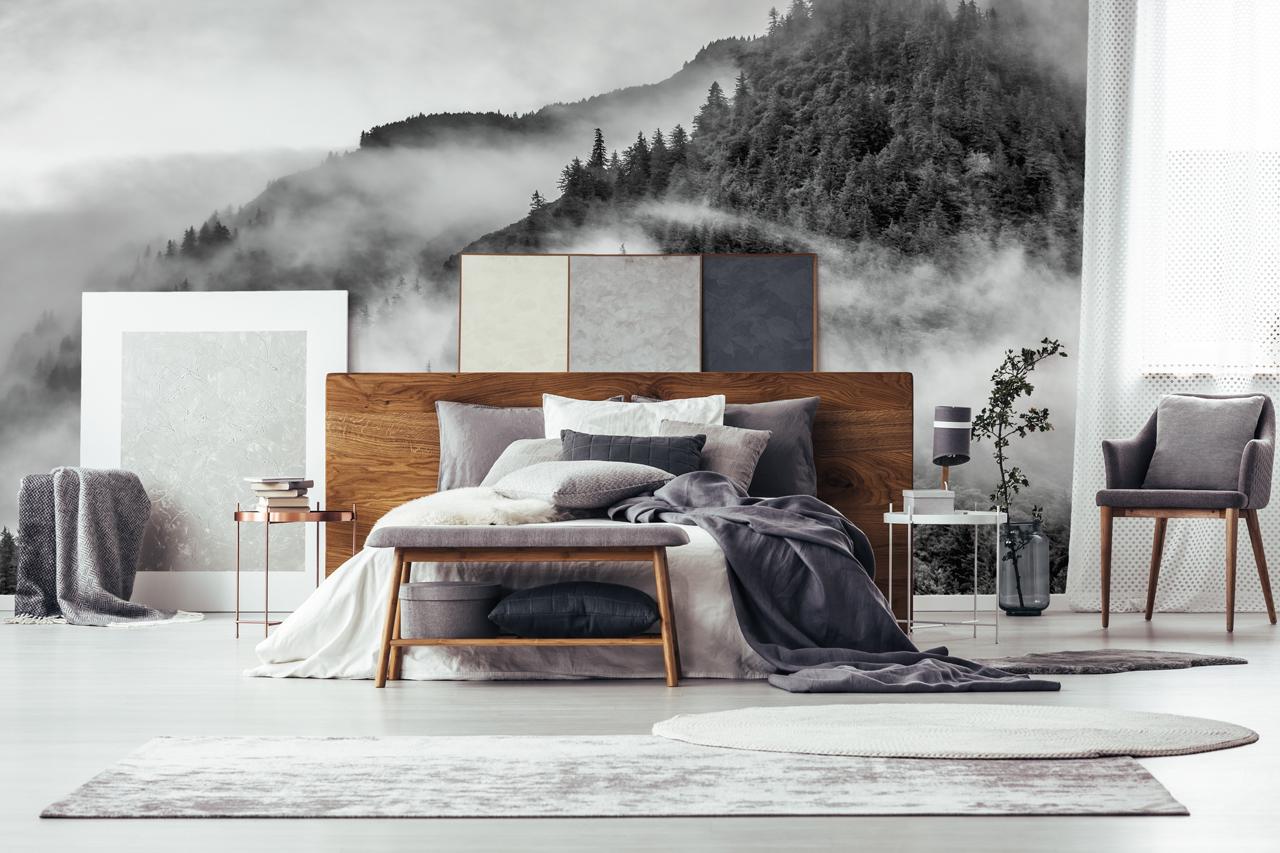 fototapeta góry sypialnia