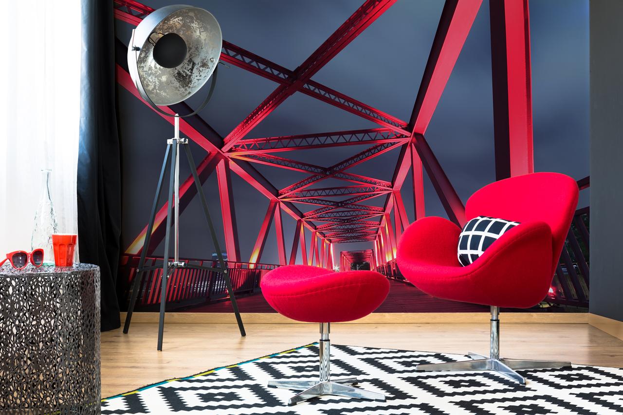 fototapeta most czerwony