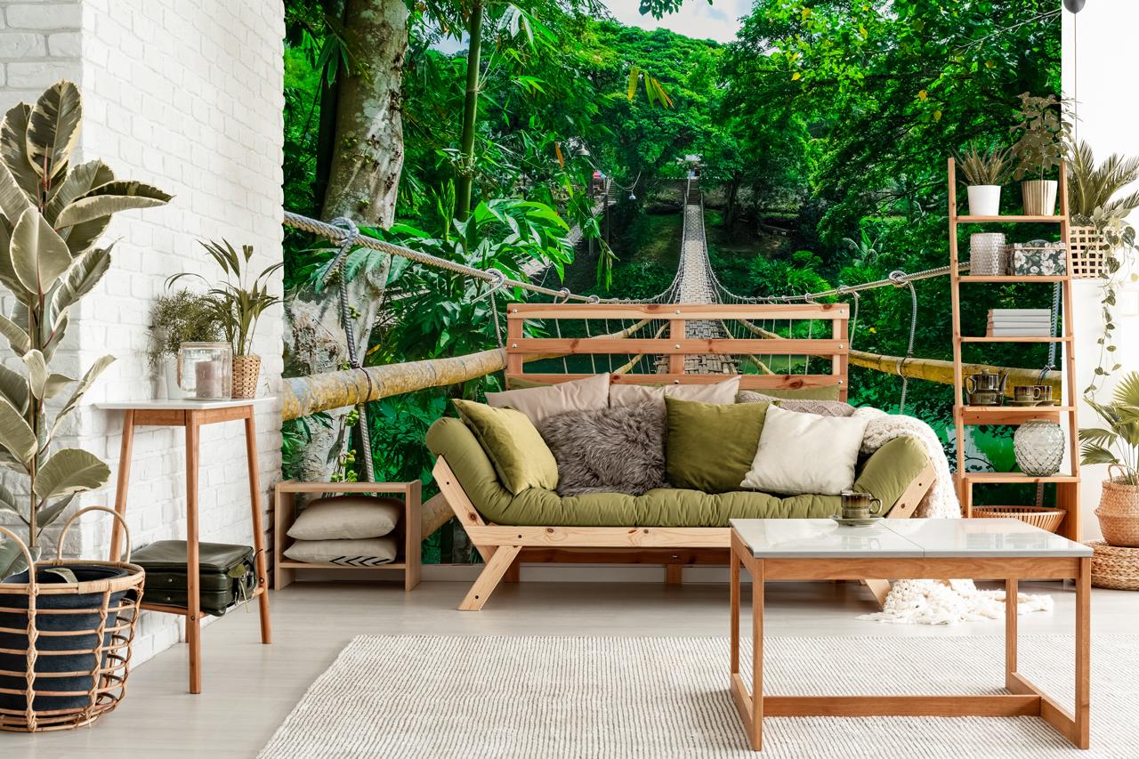fototapeta most dżungla
